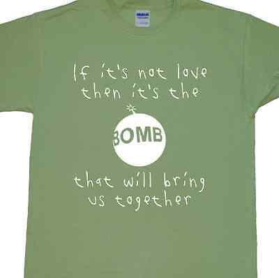 """""""chiedere"""" Bomba Canzoni T-shirt Ispirata Dall' Smiths (morrissey, Marr, Manchester)-mostra Il Titolo Originale"""