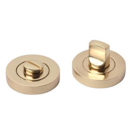 NICKEL Thumbturn Turn /& Release WC//Bathroom//Toilet Door Lock BRASS,CHROME,SATIN