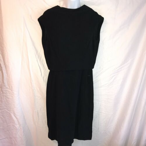 Ceil Chapman Vintage Black Dress