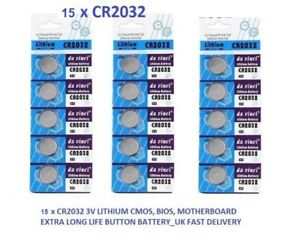 15-x-CR2032-3-V-Lithium-Coin-Cell-batterie-2032-bouton-DL2032-Exp-31-12-2022-UK