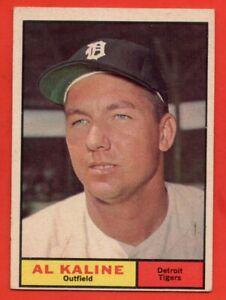 1961 Topps #429 Al Kaline EX/EX+ WRINKLE HOF Detroit Tigers FREE SHIPPING
