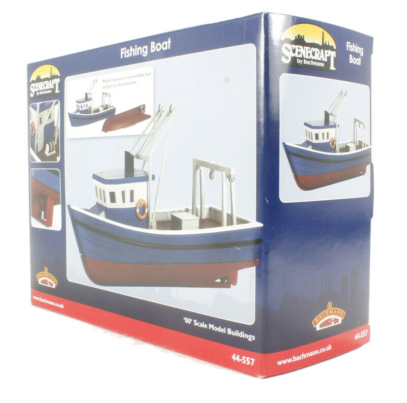 OO Gauge Bachmann Scenecraft 44-557 Fishing Boat BNIB Brand New in Box
