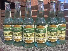 Red Ribbon Mint Julep Soda Pop 12 BOTTLES - Natrona Bottling Co. - Pittsburgh PA
