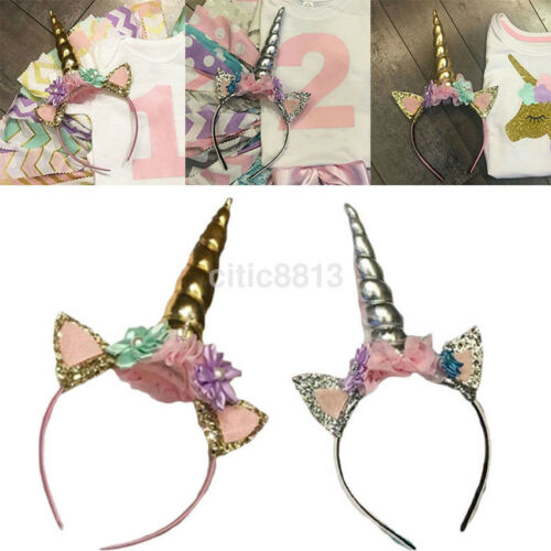 Decorative Magical Unicorn Horn Head Party Hair Headband Fancy Dress Cosplay 1PC