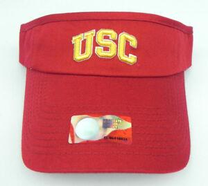 USC SOUTHERN CALIFORNIA UNIVERSITY NCAA MASCOT VISOR CAP HAT NWT!  TOP THE WORLD
