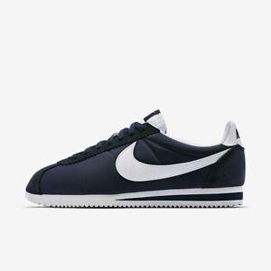 Nike-Cortez-Nylon-Men-039-s-Shoes-Size-10-Black-Classics-Trainers