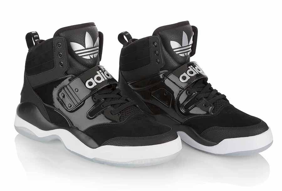 Adidas-hackmore maschile autentico di basket scarpe nero-white autentico maschile q32935 d4ab89