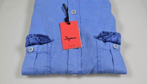 Camicia Tre Puro Collo Con Ingram Tasconi Lino Colori Regular In Coreano Fit r7avFrn