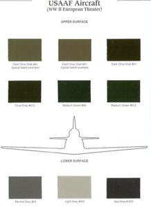 Iliad-Design-USAAF-Avion-II-Guerra-Mundial-Europeo-Teatro-Color-Tabla-CC08