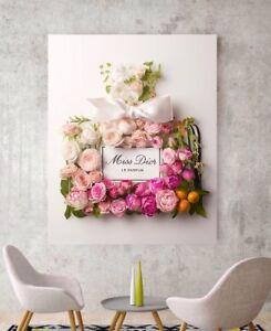 e2ca02ea2 Canvas Art Miss Dior Blooming Bouquet Perfume Art Peony Floral Print ...