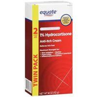 Equate Maximum Strength Anti-itch Cream 4 Oz 2 Oz Each Count 1% Hydrocortisone