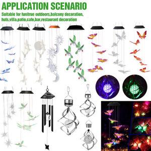 Farbveränderung Windspiel LED Lichter Fenster Garten Dekoration Solar Landschaft