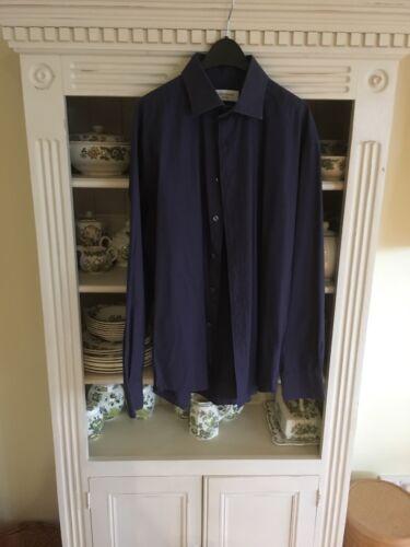 Laurent Saint Vgc Shirt Navy Yves Mens Blue 16 5qPxAw