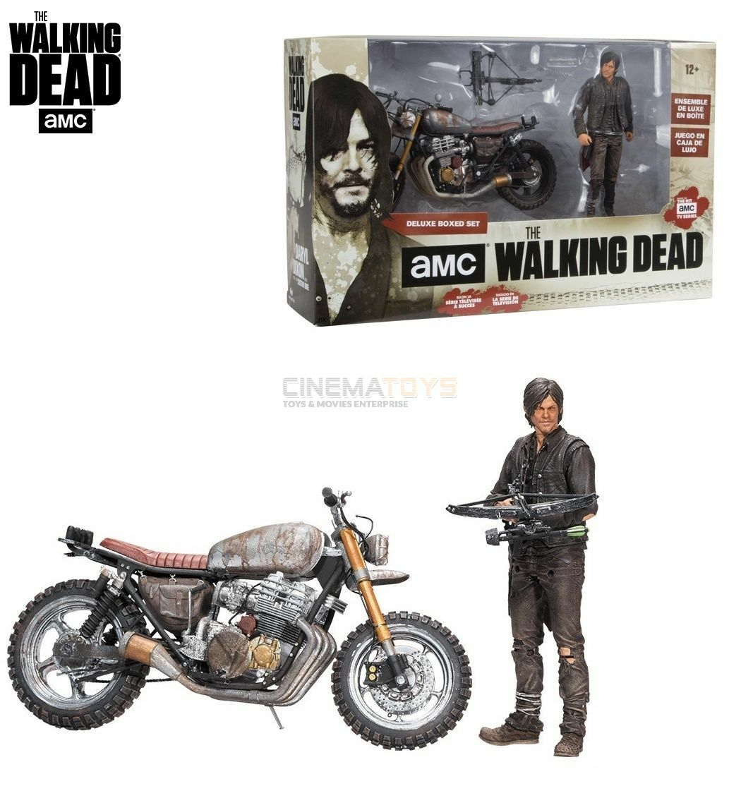 The Walking Dead AMC TV Daryl Dixon & New Bike Deluxe Action Figure McFarlane