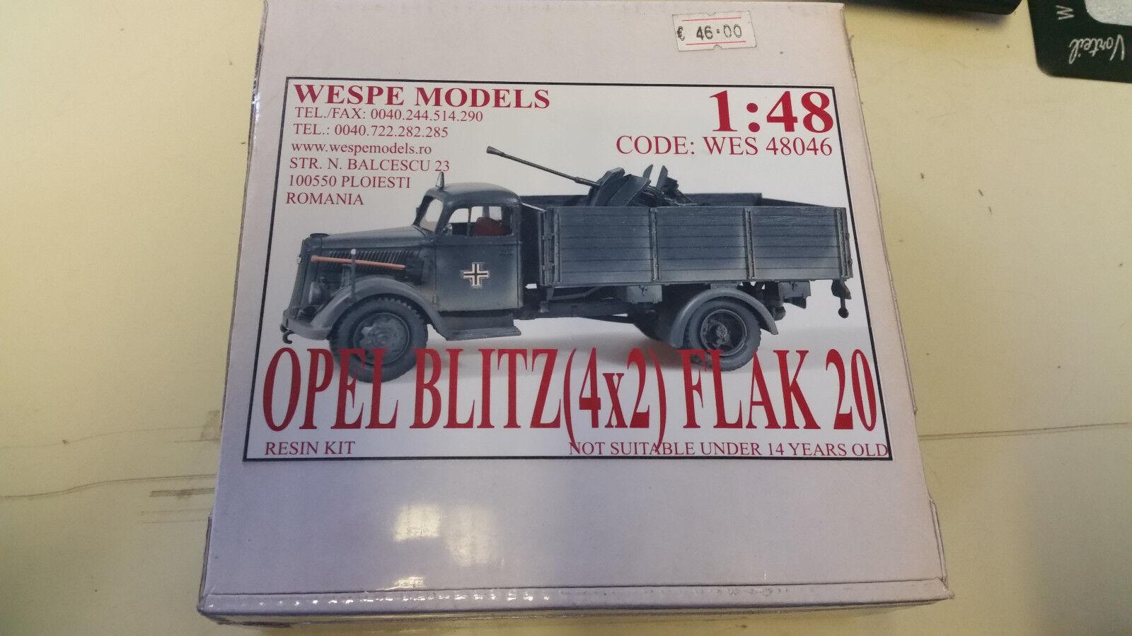 Opel Blitz 4x2 Flak 20 Wespe Resin Models 1 48 Wes 48046