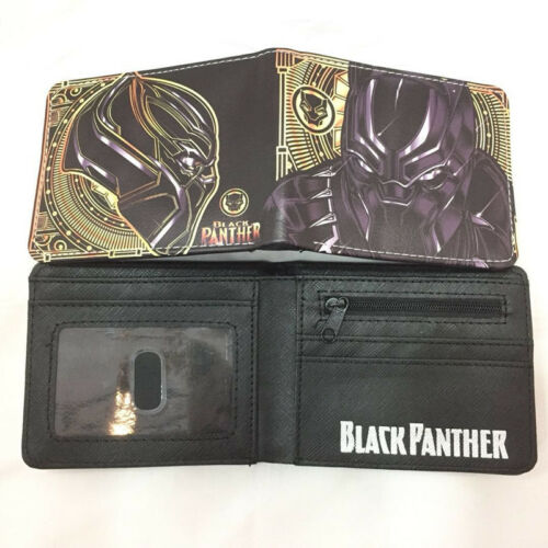 Black Panther Wallet Avengers Infinity War Men Short Purse