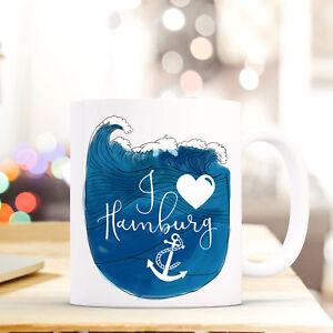Tasse Becher Kaffeebecher Geschenk Kaffeetasse Motto Spruch I Love Hamburg Ts666 Geeignet FüR MäNner Ernährung Frauen Und Kinder