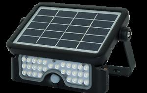 Luceco LED Solar Guardian PIR Sensor Floodlight 550 Lumen IP65 4000K Black 5Watt