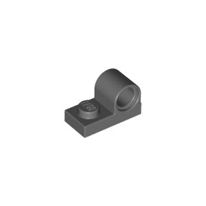 8x Plate Modified 1x2 Pin Hole on Top gris f//dark bluish gray 11458 NEUF Lego