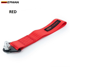 RED Epman Racing Tow Strap Tow Eye Hook Rally Race Drift Track Day Car