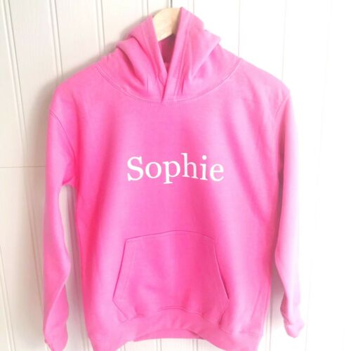 Girls Personalised Hoodie Any Name in Glitter 6 Hoodie Colours