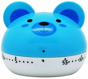 Blue Bear Mouse Kitchen Timer 60 Minute Mechanical Wind Up