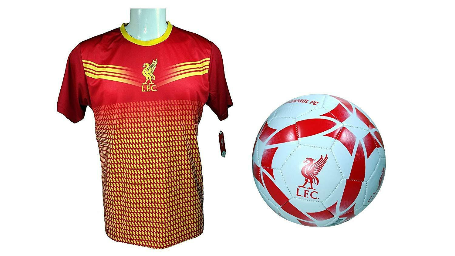 3b0f5232f Liverpool F.C. Soccer Soccer Jersey   Size 5 Ball Combo -28 S Official  Training nuoaom4768-Men