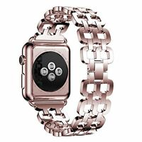 Stainless Steel Metal Band Wrist Strap Bracelet For Apple Watch 38mm Rose Gold