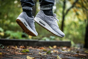 on sale a4c2d d3c35 Image is loading NIKE-AIR-MAX-1-PREMIUM-LEATHER-034-Grey-