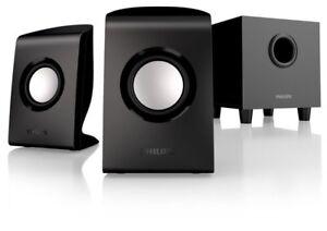 SPA1330//37 Philips Multimedia Speakers 2.1 Black for PC//MAC ™