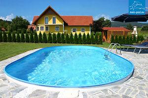 pool swimmingpool stahlwandbecken oval 7 x 3 5 x 1 5 m ebay