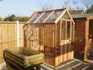 Details about 6' x 4' Cedar Sunray Traditional Greenhouse - FREE DELIVERY &  FITTING!