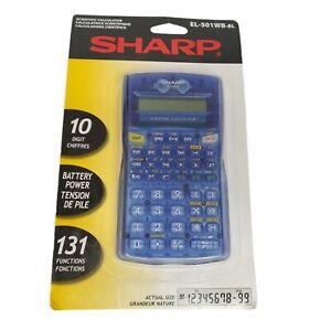 Sharp Scientific Calculator EL-501WB-BL - Blue Case - New