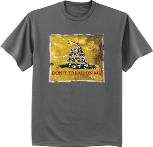Big and Tall t-shirt Don/'t tread on me flag design bigmen king size tee