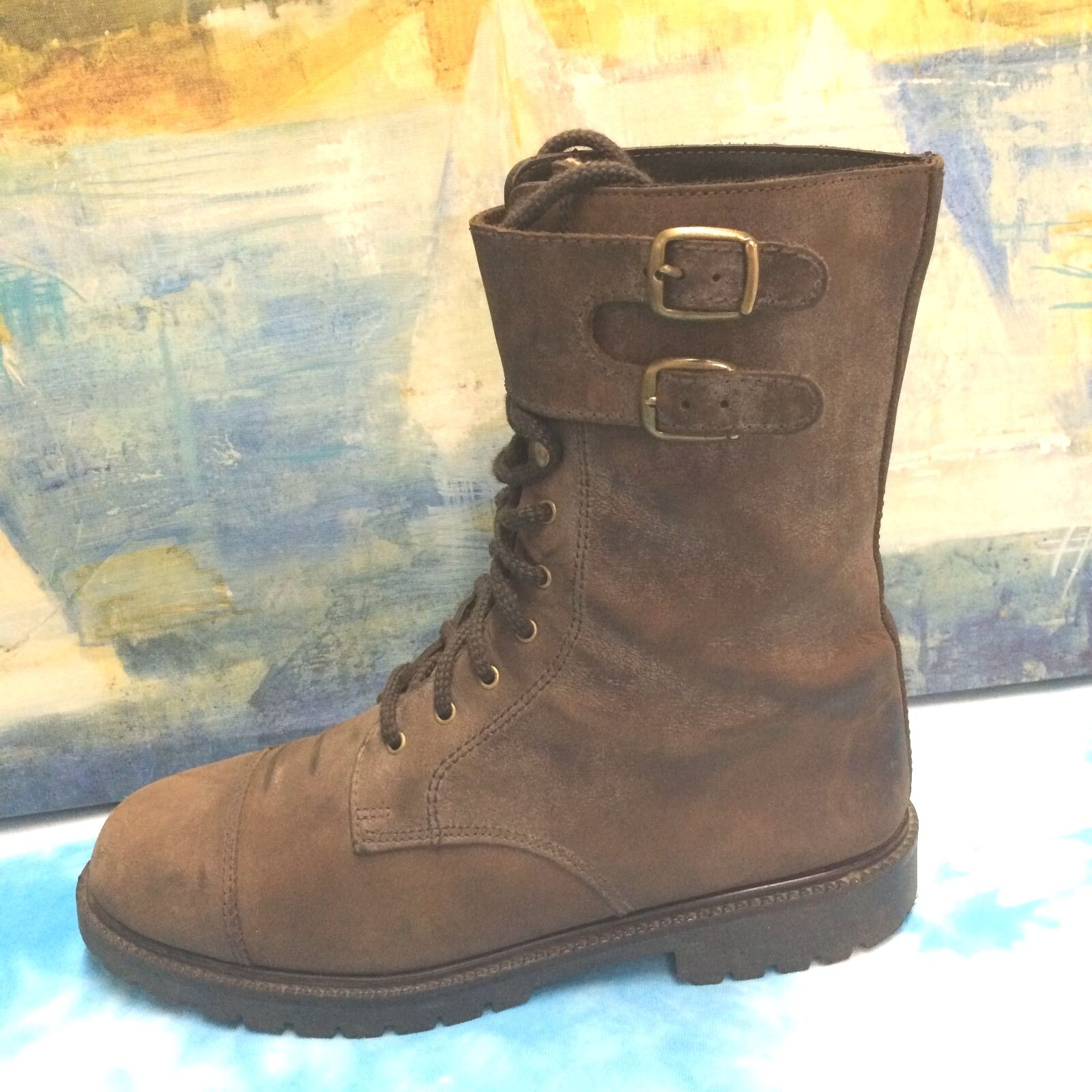 CANADA NORTH brown leather fleece insulated campus riding  dress boots 9.5 M