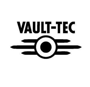 Fallout /'Vault-Tec/' logo Vinyl Sticker Decal WHITE GLOSS 15.3 x 8cm