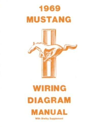 1969 mustang ignition wiring diagram mustang 1969 wiring diagram manual  includes shelby  69 ebay  mustang 1969 wiring diagram manual