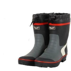 mens rain boots waterproof antiskid galoshes pull on safe