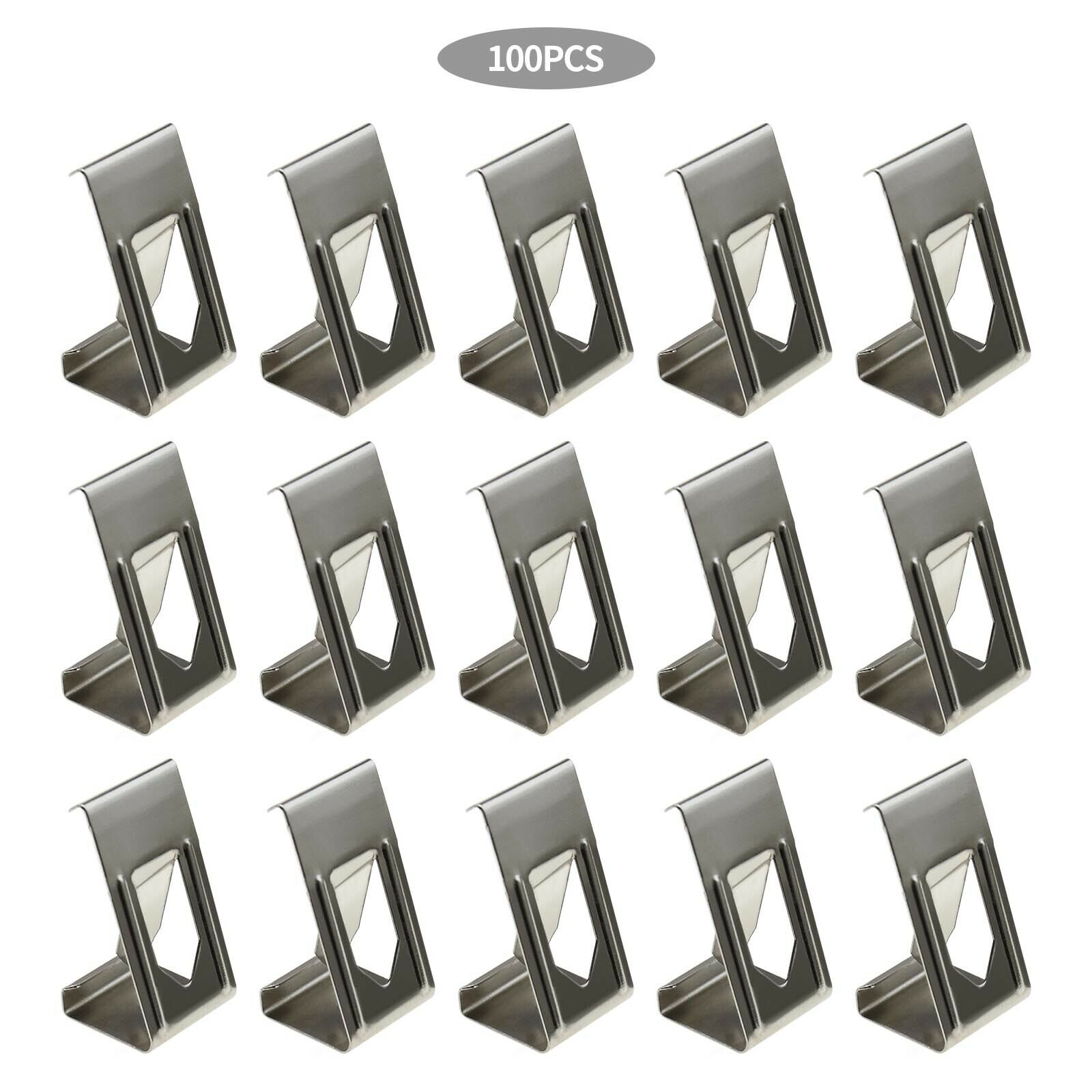 Silver Metal Spring Turn Clip Hanger For Frame 3D Printer Heated Bed 100Pcs