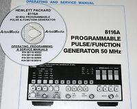 Hp Hewlett Packard 8116a Operating, Programming, Service Manuals 4 Volumes