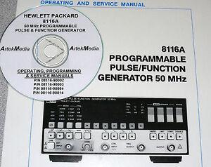 hp hewlett packard 8116a operating programming service manuals 4 rh ebay com hp 8116a service manual with schematics HP Function Generator