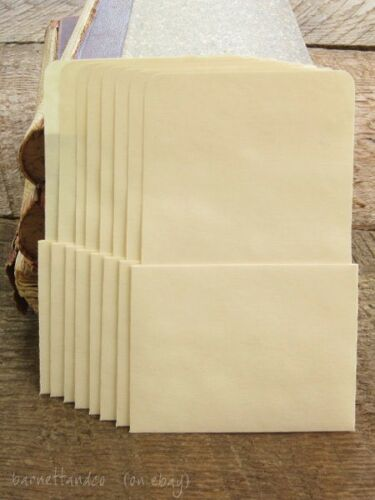 Choose Style 50 Plain Library Pockets No Adhesive AND 50 Blank Library Cards