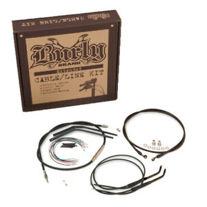 "B30-1019 Burly Control Kit for 18/"" Bars for Harley Davidson FXST//B//D 00-06"