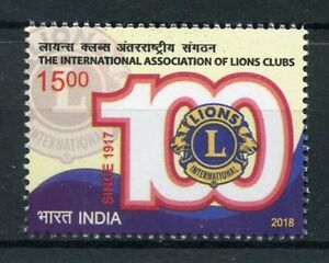 India-2018-MNH-Lions-Club-International-100th-Anniv-1v-Set-Stamps