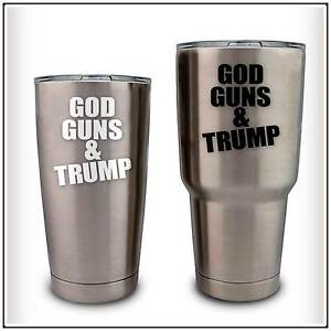 3caa9cc94f8 Details about God Guns Trump Decal Sticker compatible with YETI Rambler  RTIC Ozark Cups