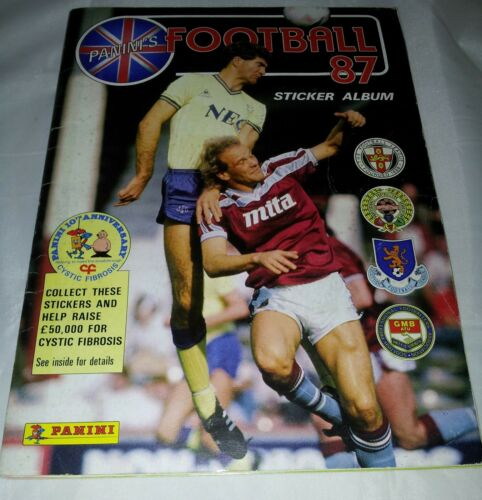 Vintage Panini Football 87 Sticker Album 100% Complete.