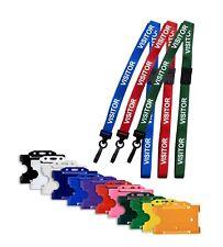 Plastic Id Card Badge Holder Amp Visitor Id Soft Neck Lanyard Free Pampp