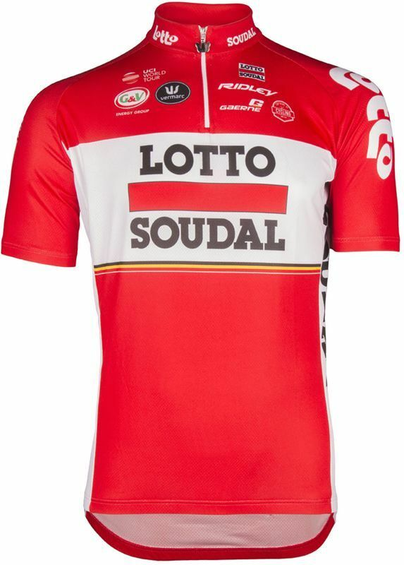 Lotto Soudal Sleeve 2017 Short Sleeve Soudal Jersey ROT Large TD085 ii 26 07e2bf