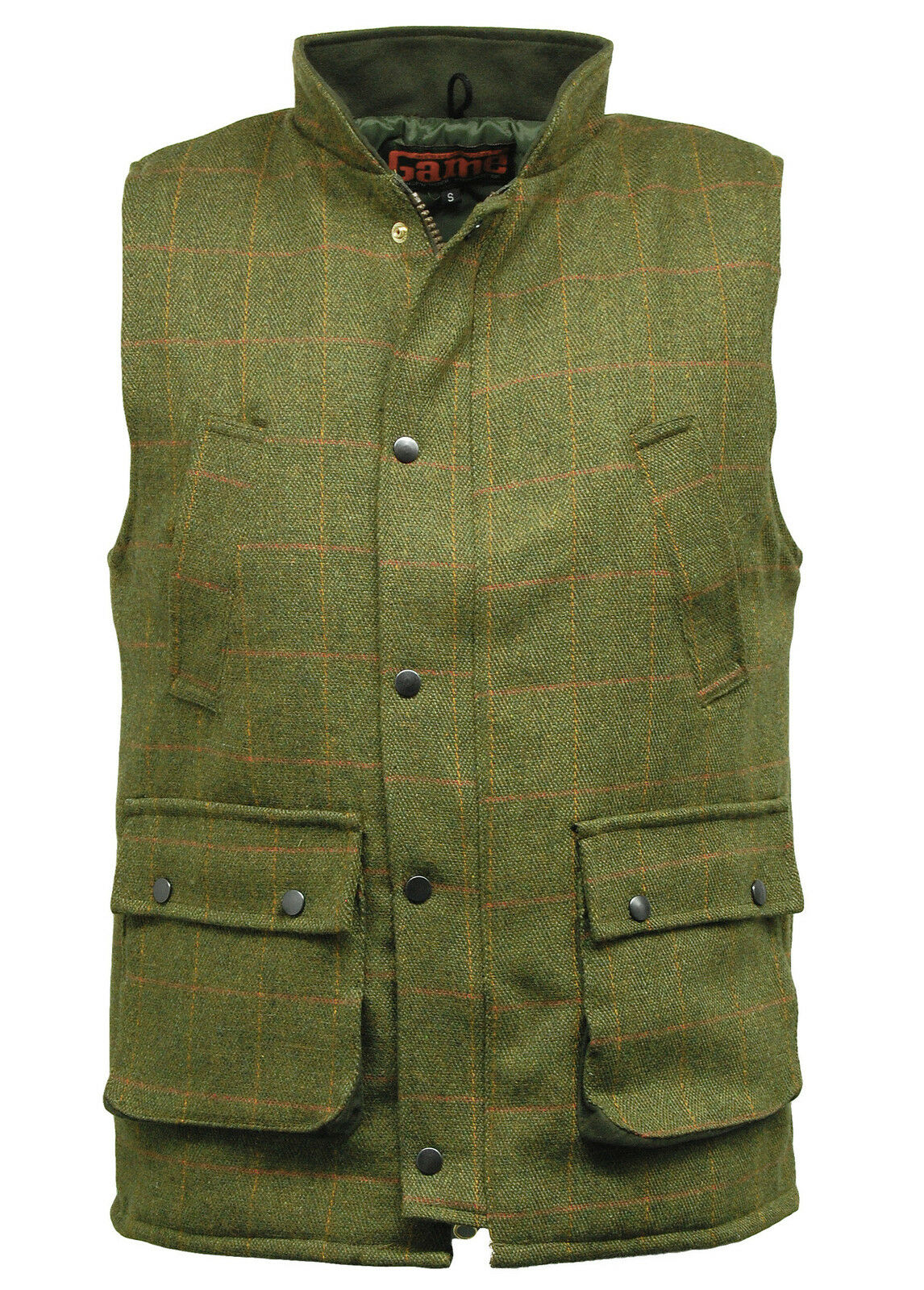6C  Herren Dark Derby Tweed Hunting Shooting Derby Waistcoat Bodywarmer Gilet