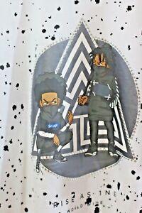 RS-1-NE-Rine-Stones-Mens-Urban-Wear-Limited-Edition-Maze-Pyramid-Black-White